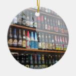 Belgian Beer Display in Ghent shop window Christmas Ornament