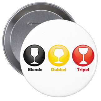 Belgian Beer Icons Pinback Button