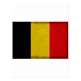 Belgian Belgium flag Postcard