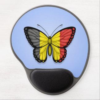 Belgian Butterfly Flag on Blue Gel Mousepad