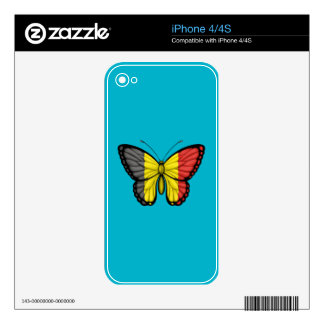 Belgian Butterfly Flag iPhone 4 Decals
