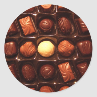BELGIAN CHOCOLATES CLASSIC ROUND STICKER