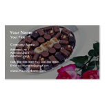 Belgian chocolates  flowers business card
