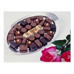 Belgian chocolates  flowers postcard