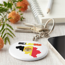 Belgian country flag keychain