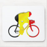 Belgian Cyclists from Belgium Bicyle Gear Mouse Mats