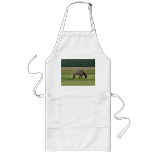 Belgian Draft Horse-brown/grey grazing Long Apron