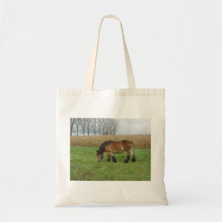 Belgian Draft Horse-brown with black mane Canvas Bags