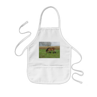 Belgian Draft Horse-brown with black mane Kids' Apron