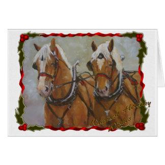 Belgian Draft Horse Christmas Card