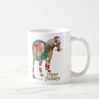 Belgian Draft Horse Christmas mug