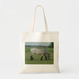Belgian Draft Horse-color grey grazing Canvas Bag