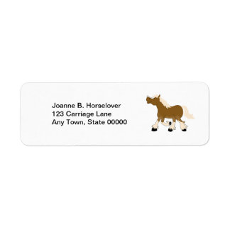 BELGIAN DRAFT HORSE Custom Return Address Label