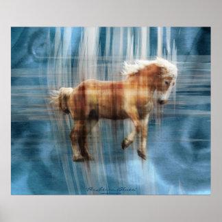 Belgian Draft Horse Equine Gift Poster