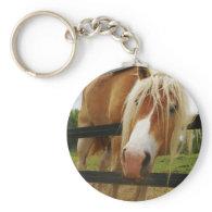 Belgian Draft Horse, Got Carrots? Key Chain