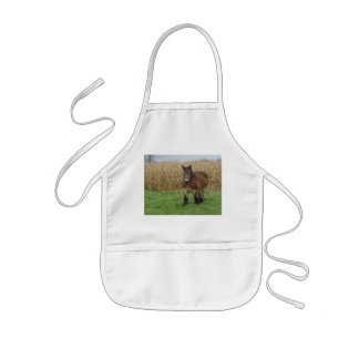 Belgian Draft Horse-in front of a corn field Kids' Apron