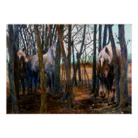 Belgian Draft Horse - Into The Woods - Poster