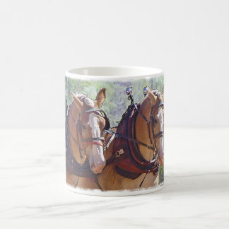Belgian Draft Horse Logging Coffee Mug