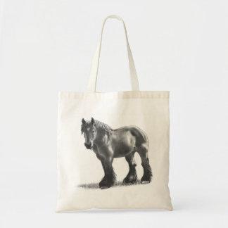 Belgian Draft Horse Pencil Drawing: Realism Tote Bag