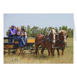Belgian Draft Horse Wagon Greeting Card