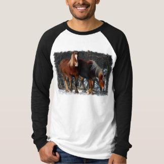 Belgian Draft Horses Men's Long Sleeve T-Shirt