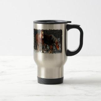 Belgian Draft Horses Stainless Travel Mug