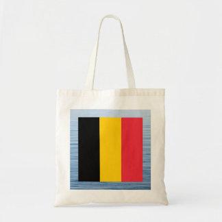Belgian Flag Floating on water Budget Tote Bag