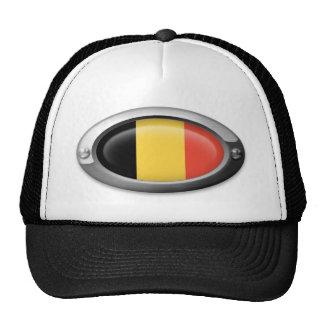 Belgian Flag in Steel Frame Trucker Hat