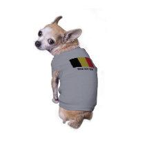 Belgian flag of Belgium custom pet dog tank top
