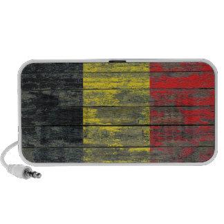 Belgian Flag on Rough Wood Boards Effect Portable Speaker