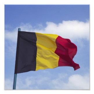 Belgian flag RF) Photo Print