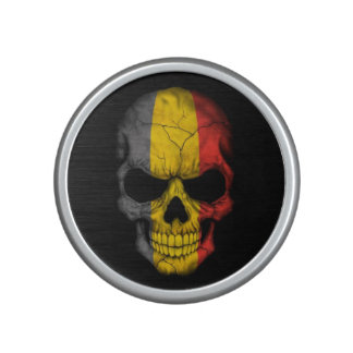 Belgian Flag Skull Bluetooth Speaker