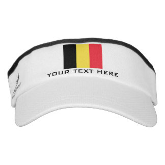 Belgian flag sports sun visor cap hat