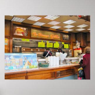 Belgian food trailer, great fast food! poster