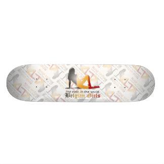 Belgian Girl Silhouette Flag Skateboard Decks