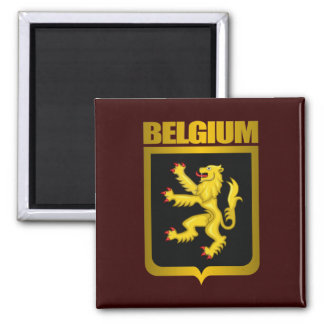 """""""Belgian Gold"""" 2 Inch Square Magnet"""