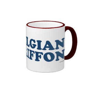 Belgian Griffon Blue Ringer Mug