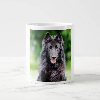 Belgian Groenendael dog, Belgian Shepherd photo 20 Oz Large Ceramic Coffee Mug