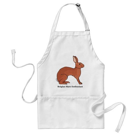 Belgian Hare Enthusiast Adult Apron
