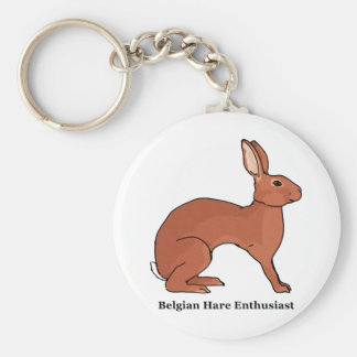 Belgian Hare Enthusiast Basic Round Button Keychain