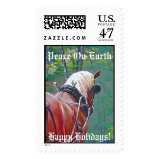 Belgian Horse Christmas Stamps