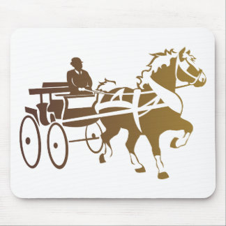 Belgian Horse Driving Mouse Pad