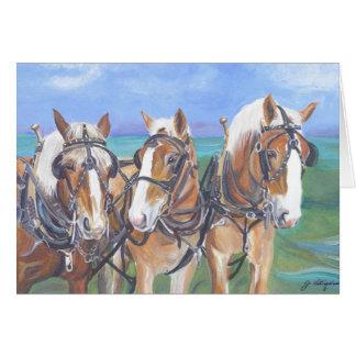 """Belgian Horses Card"""