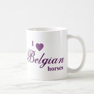 Belgian horses coffee mug