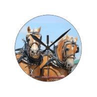 Belgian Horses Wall Clocks