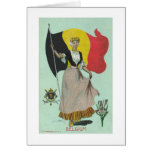 Belgian Lady & Flag - Early 1900s Greeting Card