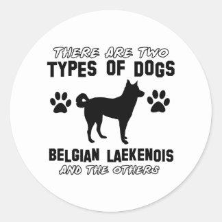 Belgian Lakenois designs Classic Round Sticker