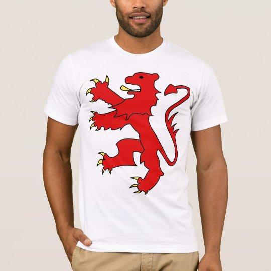 Belgian lion (red w/black outline) T-Shirt