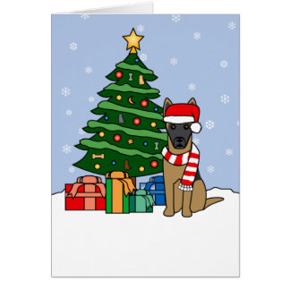 Belgian Malinois and Christmas Tree Cards