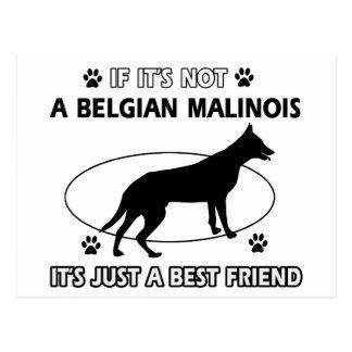 BELGIAN MALINOIS best friend designs Postcard